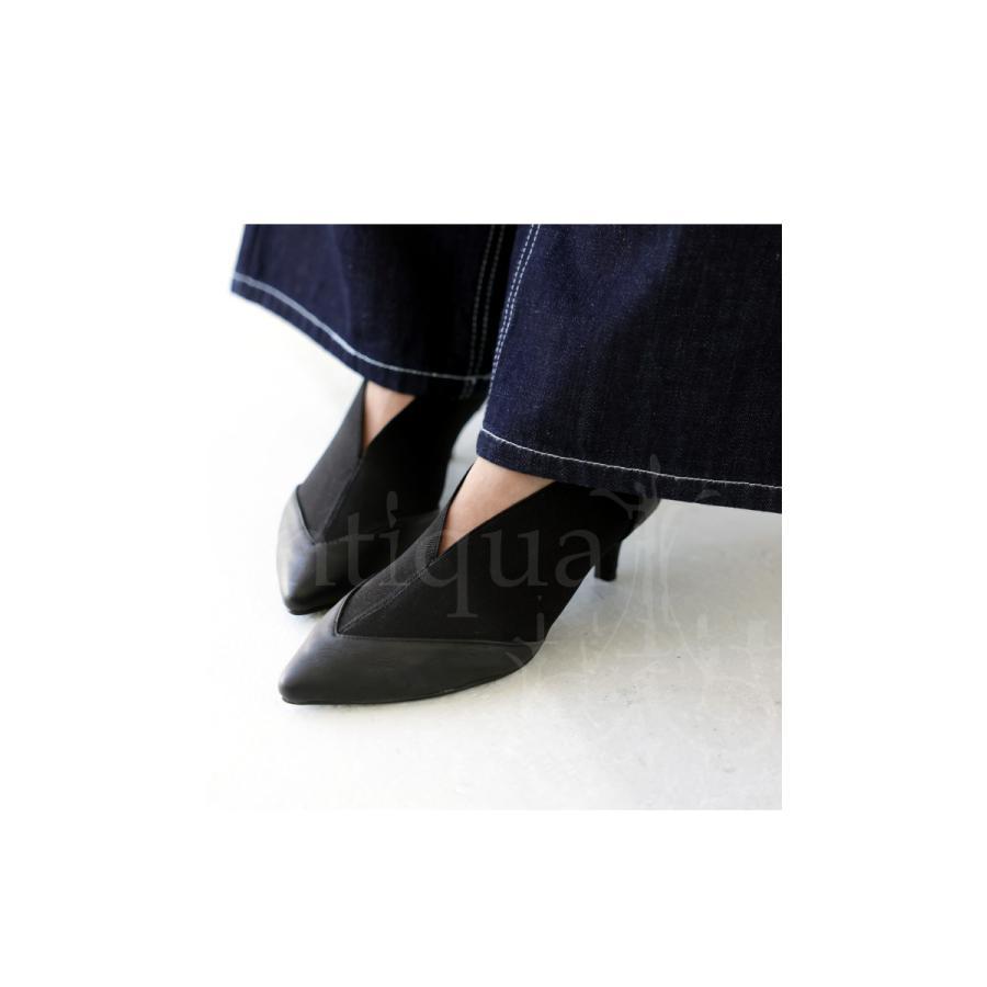 靴 シューズ パンプス レディース S M L LL ローヒール ゴアパンプス 送料無料・再販。メール便不可|antiqua|13