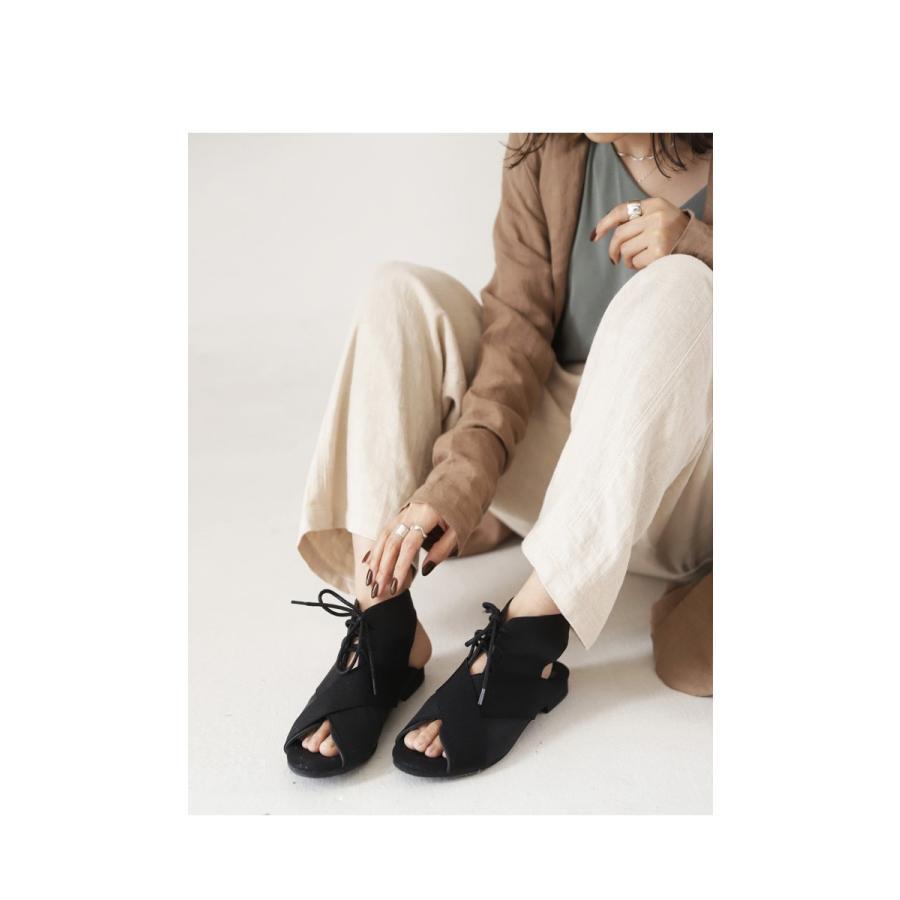 靴 サンダル レディース ゴアサンダル レースアップ レザーゴアサンダル・再販。メール便不可 母の日|antiqua|15