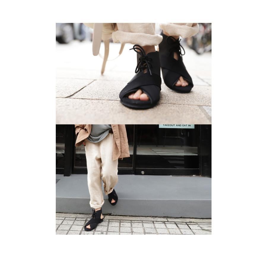 靴 サンダル レディース ゴアサンダル レースアップ レザーゴアサンダル・再販。メール便不可 母の日|antiqua|16