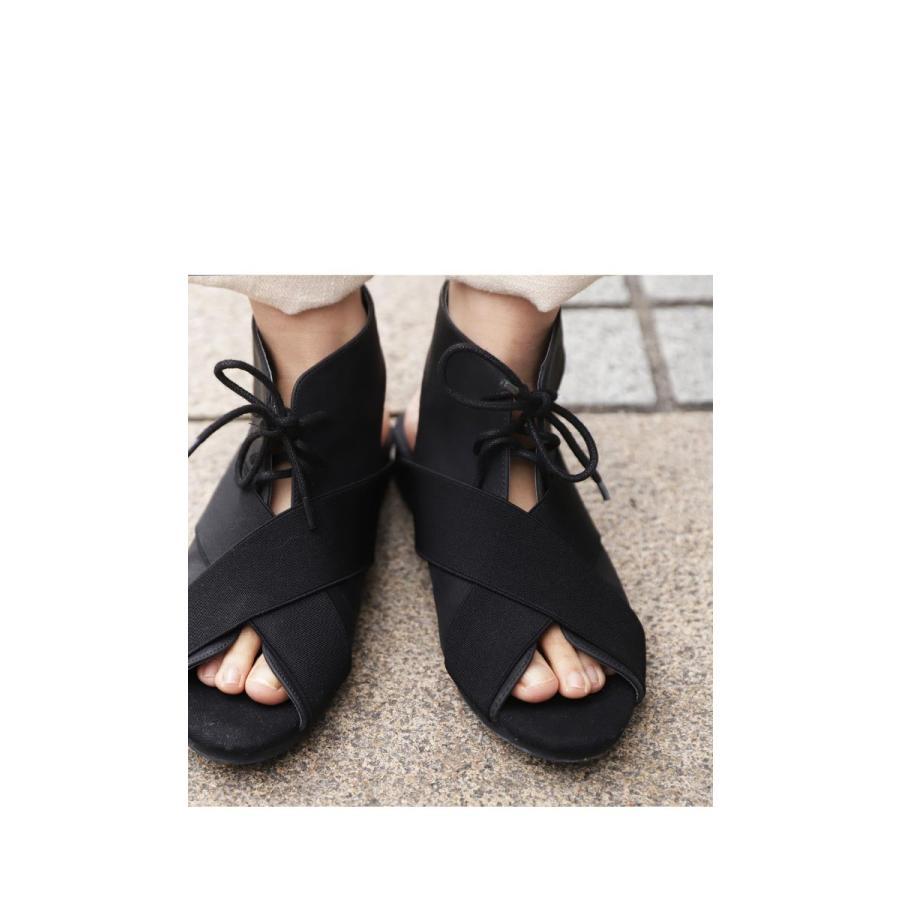 靴 サンダル レディース ゴアサンダル レースアップ レザーゴアサンダル・再販。メール便不可 母の日|antiqua|04