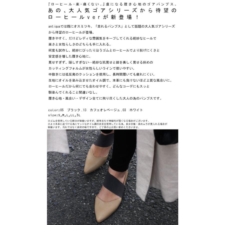 ゴアパンプス パンプス 靴 痛くない 歩きやすい 送料無料・メール便不可 antiqua 02