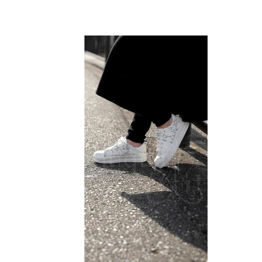 靴 シューズ スニーカー レディース 軽量 履きやすい MAP厚底スニーカー 送料無料・再再販。メール便不可 母の日|antiqua|03