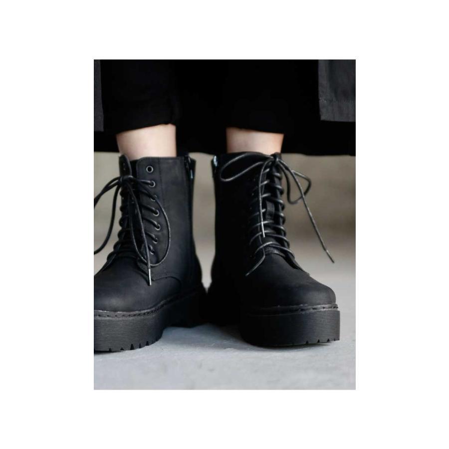 厚底ショートブーツ ブーツ レディース 靴 厚底 送料無料・9月29日10時〜再再販。メール便不可|antiqua|03