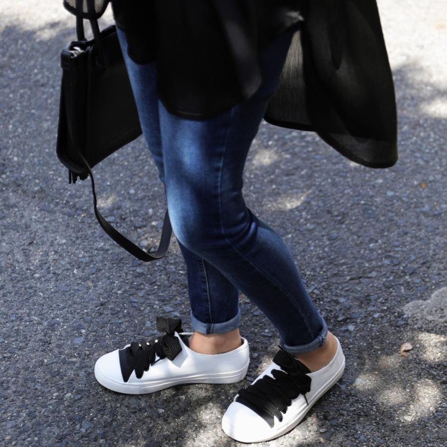 靴 シューズ スニーカー レディース 軽い 柔らかい バイカラースニーカー 送料無料・4月20日0時〜再再販。メール便不可|antiqua|13
