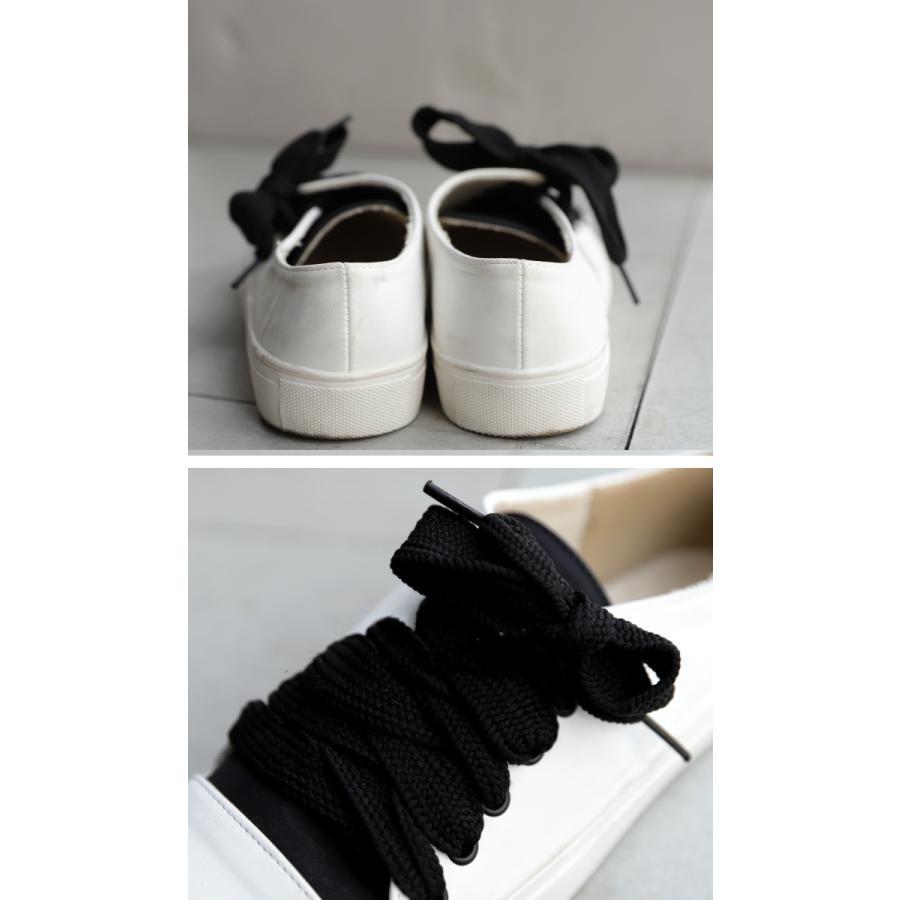 靴 シューズ スニーカー レディース 軽い 柔らかい バイカラースニーカー 送料無料・4月20日0時〜再再販。メール便不可|antiqua|08