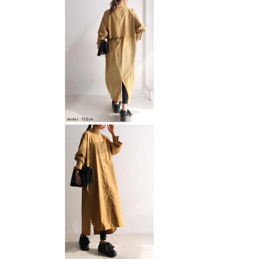 トレンチ風ロングシャツ シャツ レディース 長袖 送料無料・再再販。メール便不可|antiqua|08