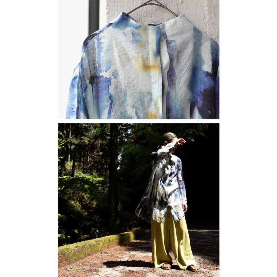 アート柄シャツ シャツ レディース トップス 長袖 送料無料・再再販。80ptメール便可|antiqua|03
