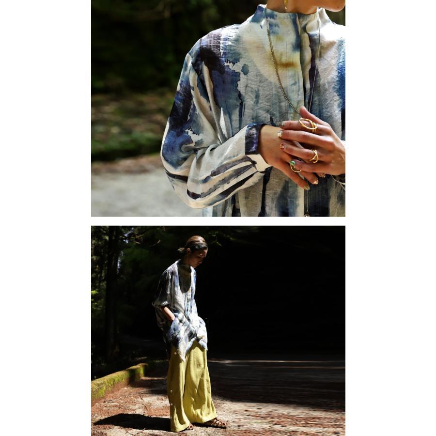 アート柄シャツ シャツ レディース トップス 長袖 送料無料・再再販。80ptメール便可|antiqua|10