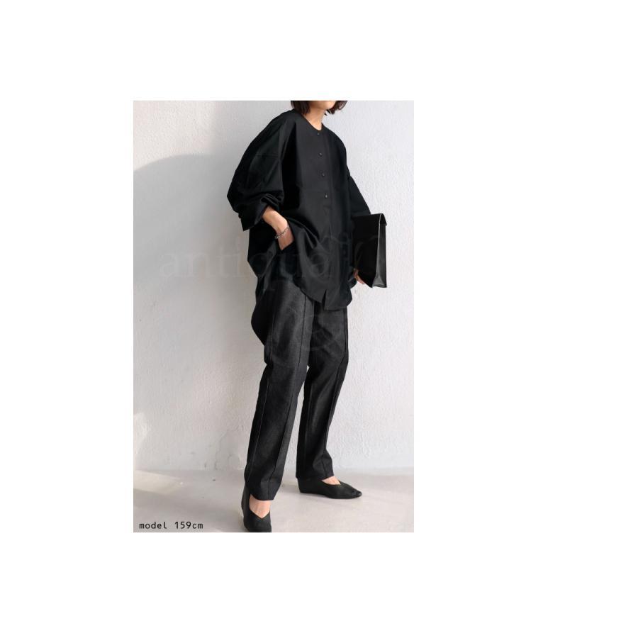 フロントスリットシャツ シャツ レディース 長袖 送料無料・再再販。メール便不可 antiqua 16