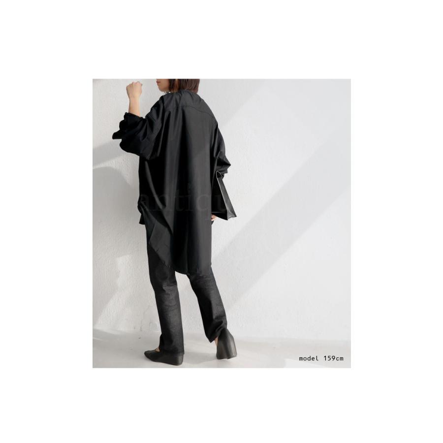フロントスリットシャツ シャツ レディース 長袖 送料無料・再再販。メール便不可 antiqua 05