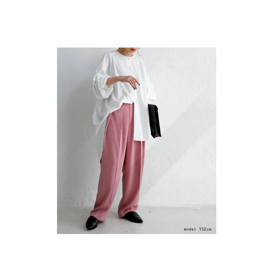 フロントスリットシャツ シャツ レディース 長袖 送料無料・再再販。メール便不可 antiqua 09