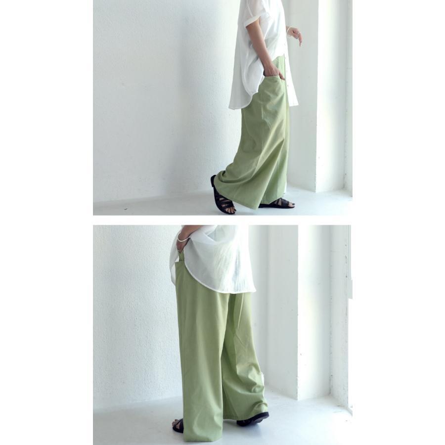 ポケットデザインパンツ パンツ レディース ロング 送料無料・再再販。メール便不可|antiqua|11