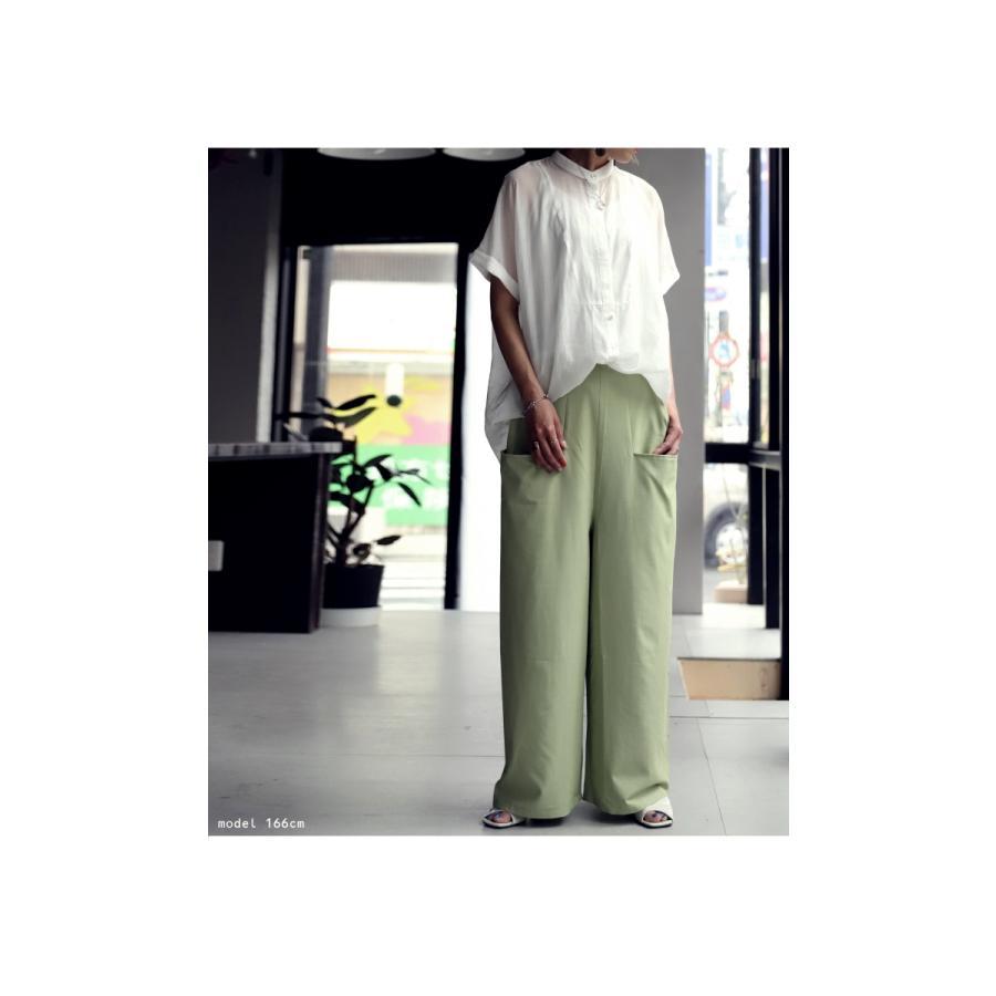 ポケットデザインパンツ パンツ レディース ロング 送料無料・再再販。メール便不可|antiqua|13
