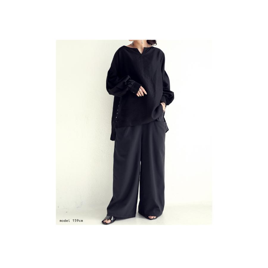 ポケットデザインパンツ パンツ レディース ロング 送料無料・再再販。メール便不可|antiqua|05