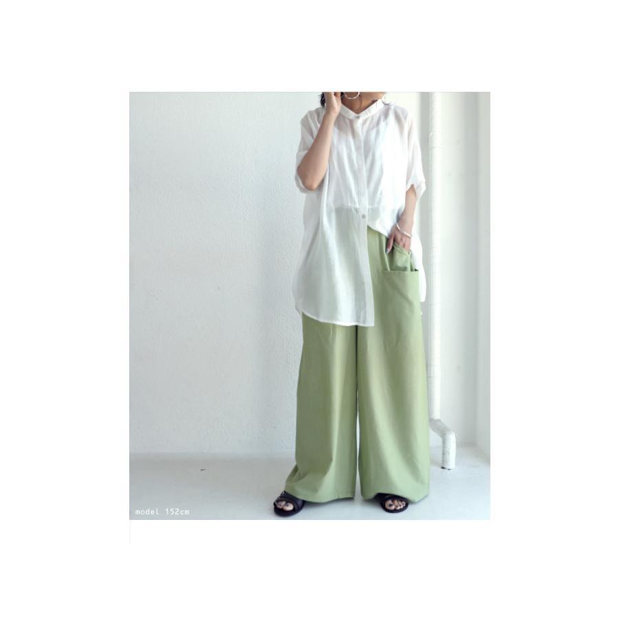 ポケットデザインパンツ パンツ レディース ロング 送料無料・再再販。メール便不可|antiqua|10