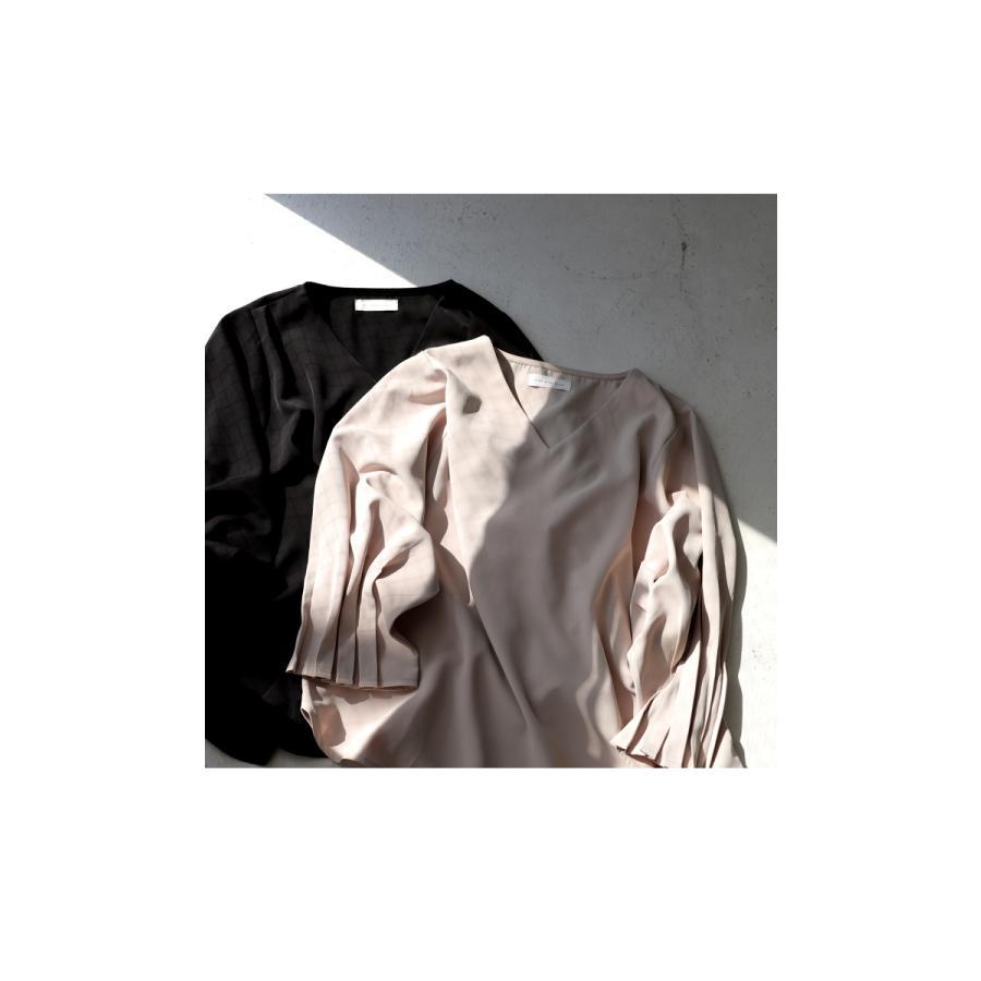 袖プリーツブラウス レディース トップス ブラウス 送料無料・再再販。メール便不可|antiqua|13