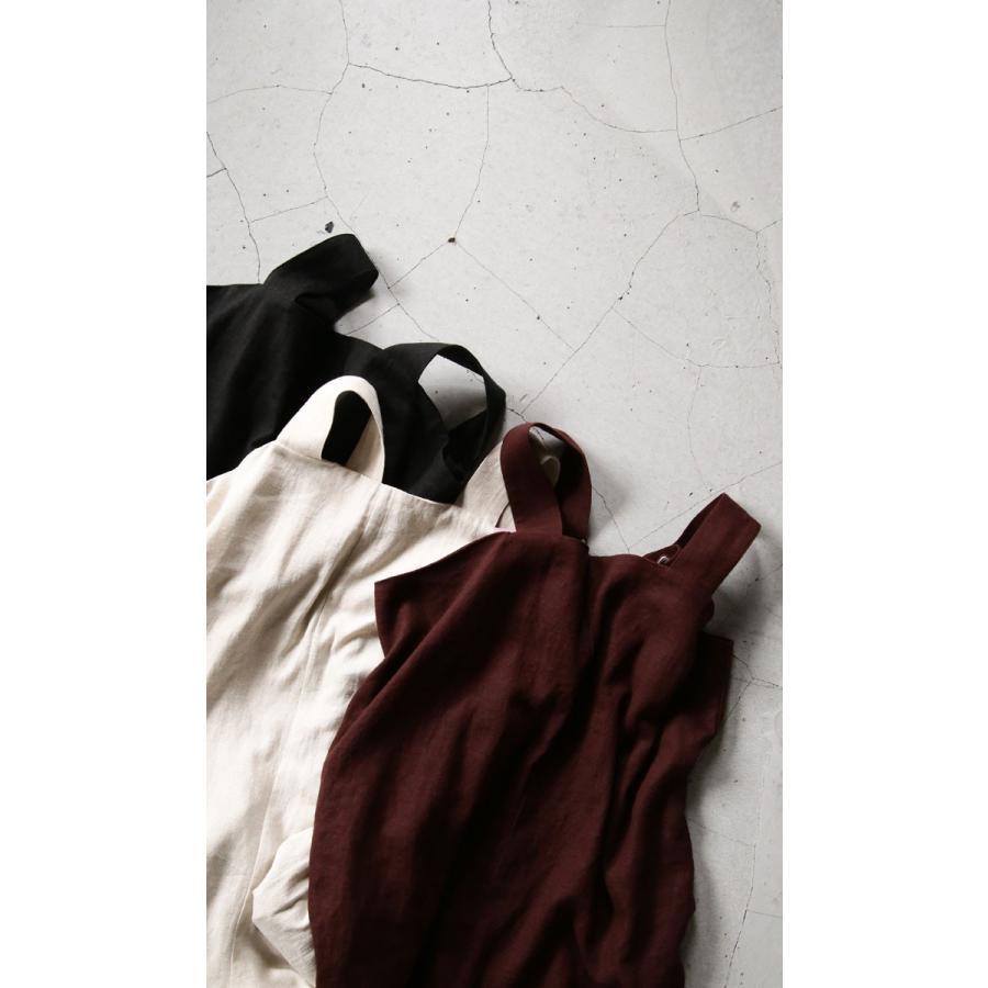 サロペット サロペ レディース 麻 麻混 レーヨン ナチュラルリネンサロペット 送料無料・3月5日0時〜再再販。メール便不可 母の日|antiqua|19