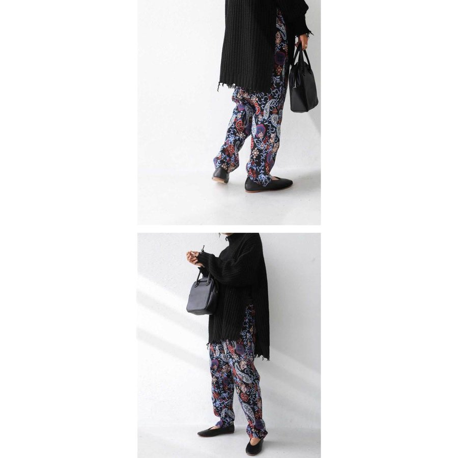 ゴブラン織り テーパードパンツ パンツ レディース 送料無料・9月19日10時〜発売。メール便不可|antiqua|10