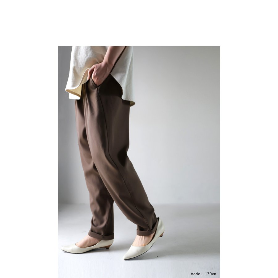 タックデザインパンツ パンツ レディース ボトムス ロング・再再販。メール便不可 antiqua 16