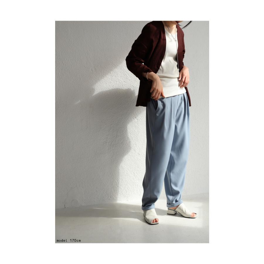 タックデザインパンツ パンツ レディース ボトムス ロング・再再販。メール便不可 antiqua 09