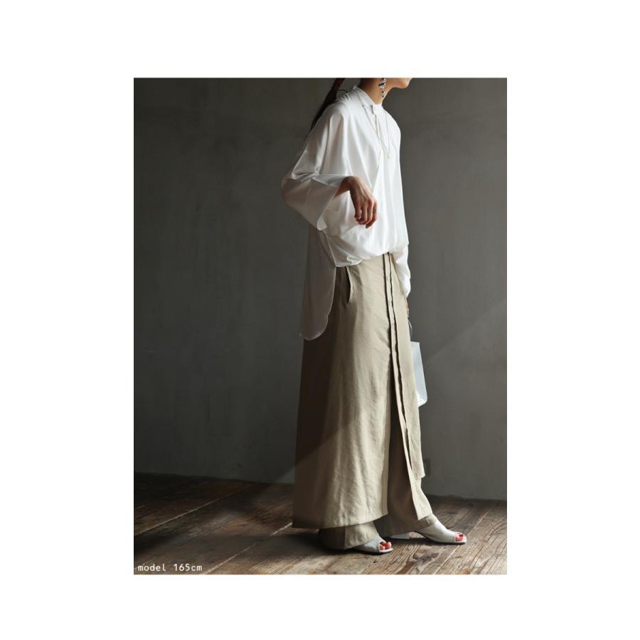まるでスカートのような上品な佇まい。デザインワイドパンツ 送料無料・再再販。メール便不可 母の日|antiqua|12