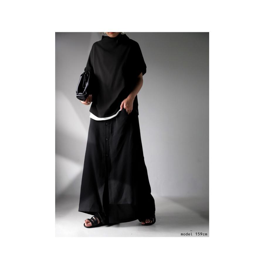 まるでスカートのような上品な佇まい。デザインワイドパンツ 送料無料・再再販。メール便不可 母の日|antiqua|07