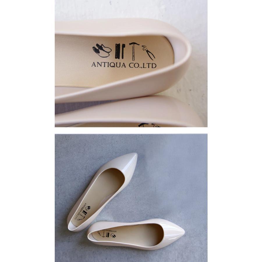 レインシューズ 靴 レディース シューズ パンプス レイン 雨の日 防水・メール便不可 母の日|antiqua|08