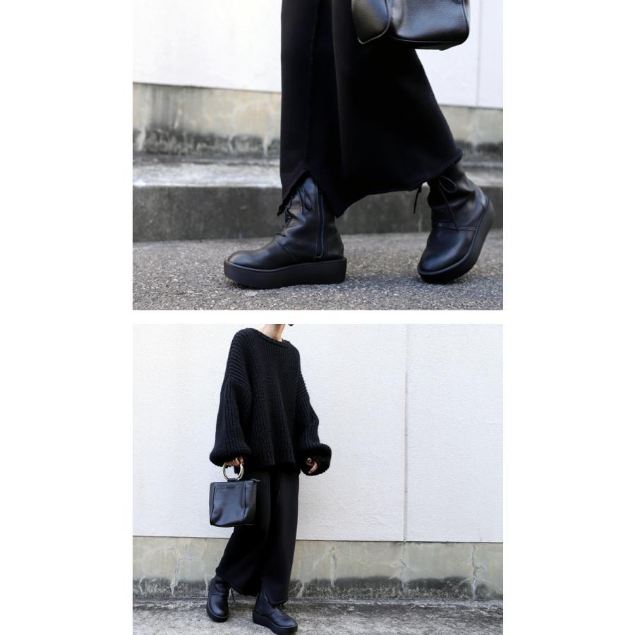 靴 ブーツ 厚底ブーツ レディース プラットフォーム 本革厚底ブーツ 送料無料・再再販。メール便不可|antiqua|11