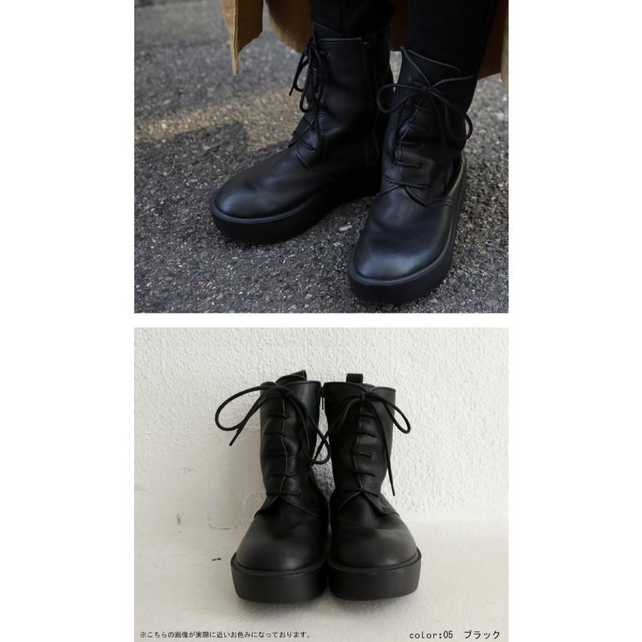 靴 ブーツ 厚底ブーツ レディース プラットフォーム 本革厚底ブーツ 送料無料・再再販。メール便不可|antiqua|05
