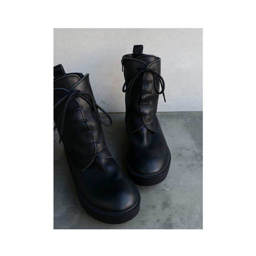 靴 ブーツ 厚底ブーツ レディース プラットフォーム 本革厚底ブーツ 送料無料・再再販。メール便不可|antiqua|06