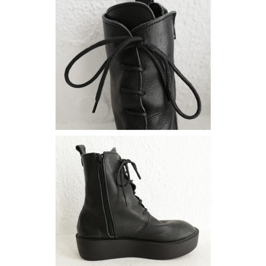 靴 ブーツ 厚底ブーツ レディース プラットフォーム 本革厚底ブーツ 送料無料・再再販。メール便不可|antiqua|07
