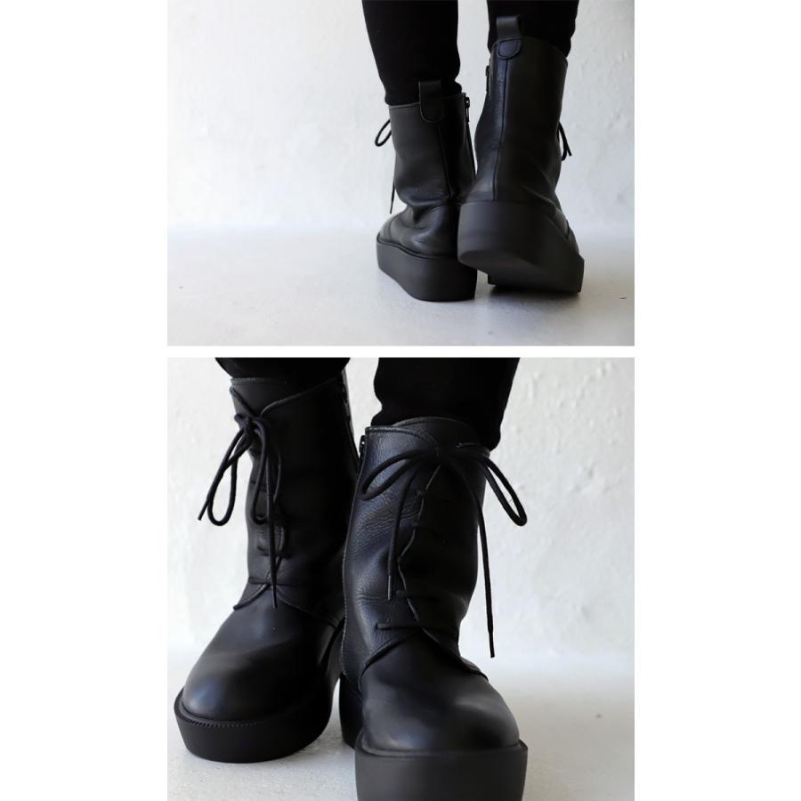 靴 ブーツ 厚底ブーツ レディース プラットフォーム 本革厚底ブーツ 送料無料・再再販。メール便不可|antiqua|10