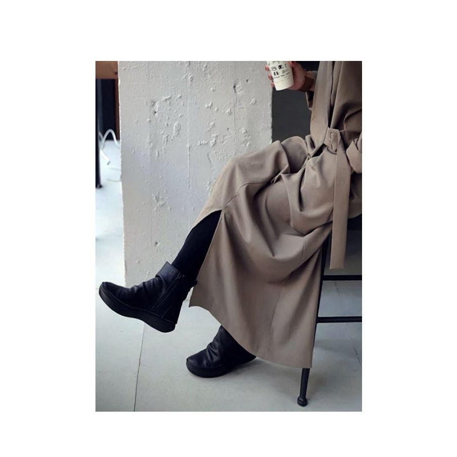 ブーツ レディース 本革 ショートブーツ 日本製 ジップアップ 厚底 送料無料・再販。メール便不可|antiqua|13