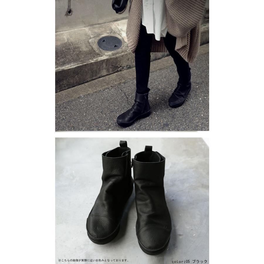 ブーツ レディース 本革 ショートブーツ 日本製 ジップアップ 厚底 送料無料・再販。メール便不可|antiqua|06