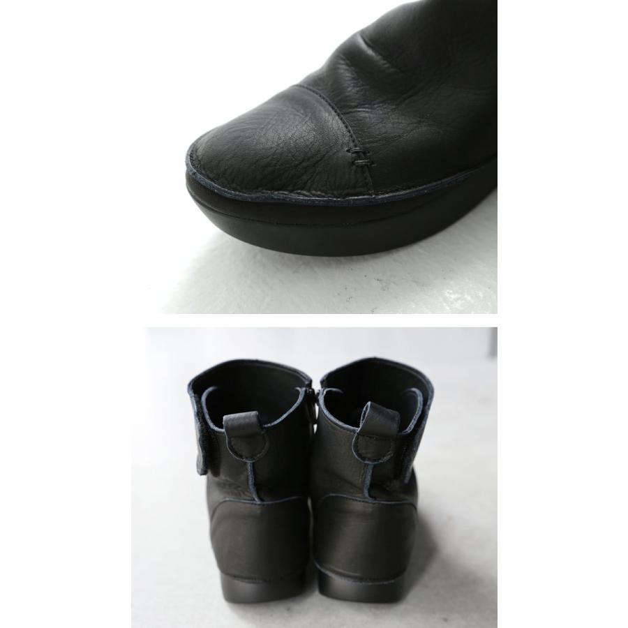 ブーツ レディース 本革 ショートブーツ 日本製 ジップアップ 厚底 送料無料・再販。メール便不可|antiqua|07