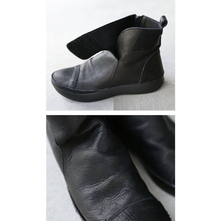 ブーツ レディース 本革 ショートブーツ 日本製 ジップアップ 厚底 送料無料・再販。メール便不可|antiqua|08