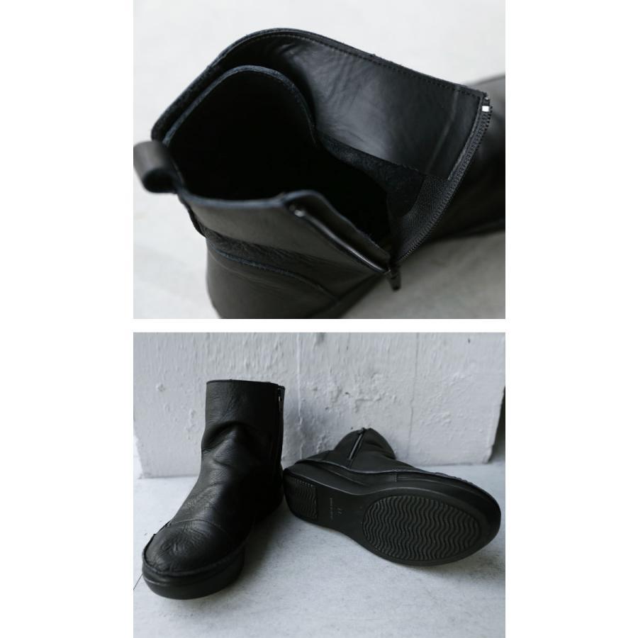 ブーツ レディース 本革 ショートブーツ 日本製 ジップアップ 厚底 送料無料・再販。メール便不可|antiqua|09