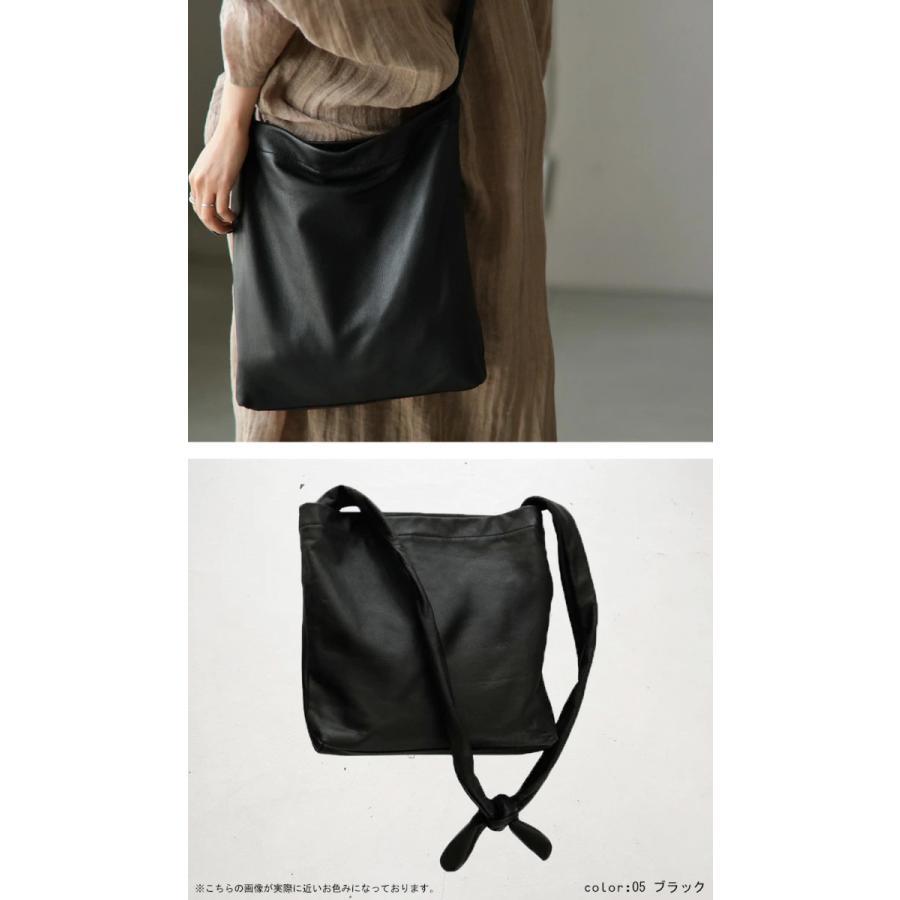 バッグ 鞄 レザー 本革 レディース トートバッグ 日本製 結びレザーバッグ・再再販。メール便不可 母の日|antiqua|19