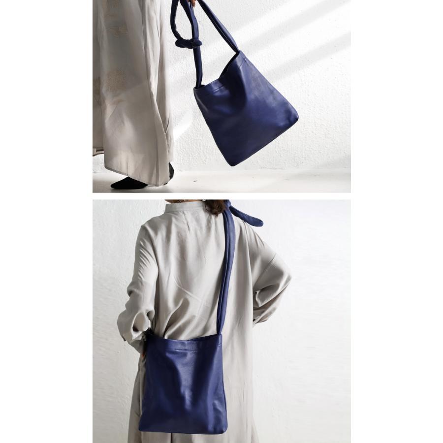 バッグ 鞄 レザー 本革 レディース トートバッグ 日本製 結びレザーバッグ・再再販。メール便不可 母の日|antiqua|04
