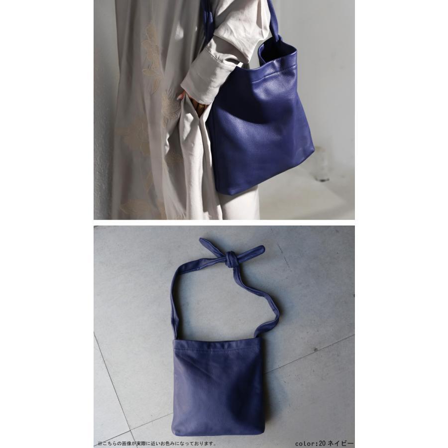 バッグ 鞄 レザー 本革 レディース トートバッグ 日本製 結びレザーバッグ・再再販。メール便不可 母の日|antiqua|07