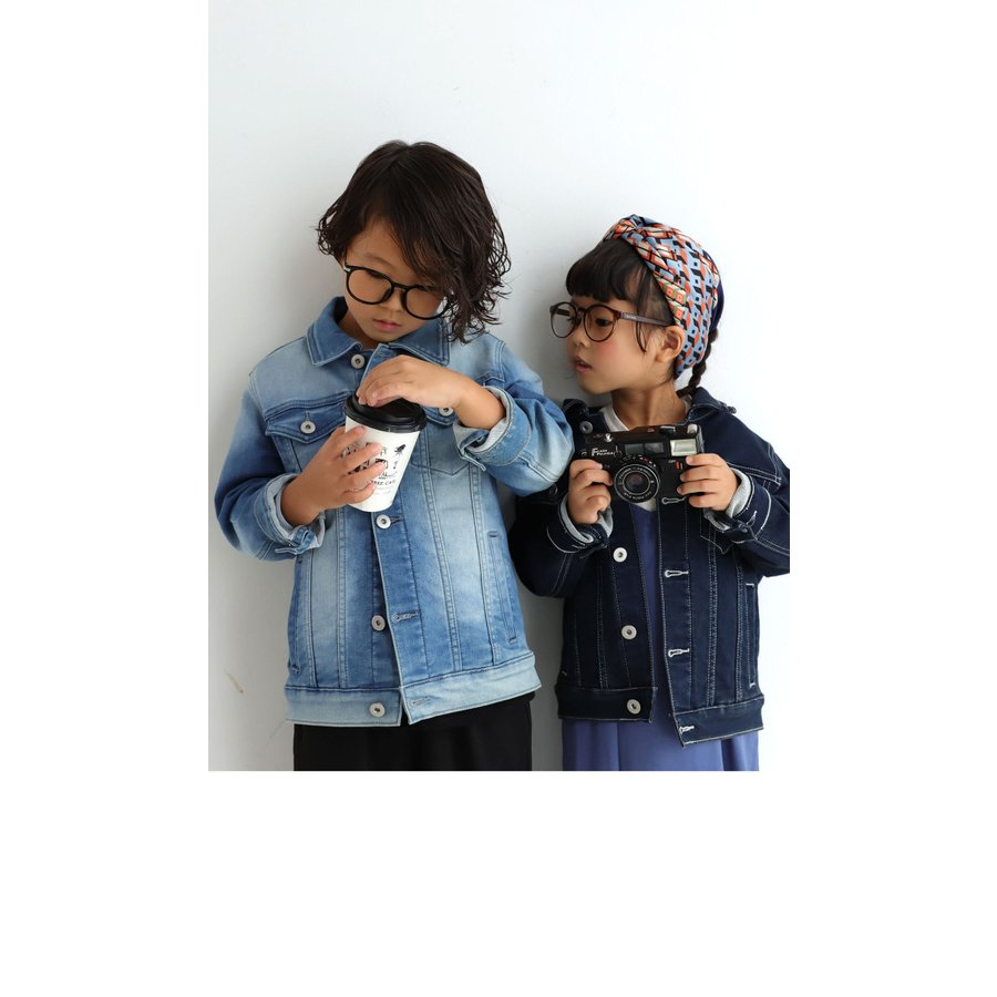 キッズGジャン デニム ジャケット 子供服 キッズ カットデニムジャケット・メール便不可TOY|antiqua|20