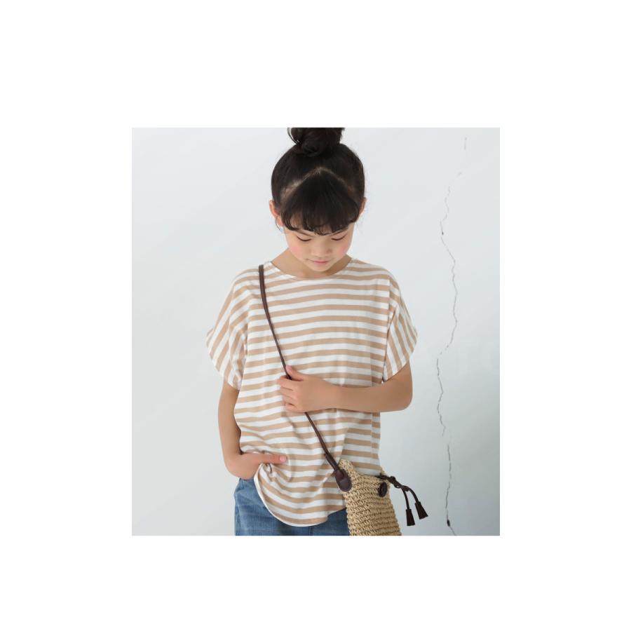 キッズ 男の子 女の子 綿100% トップス ダンス衣装 半袖 ・3月25日0時〜再再販。新色追加 ボーダードルマントップス30ptメール便可TOY|antiqua|14