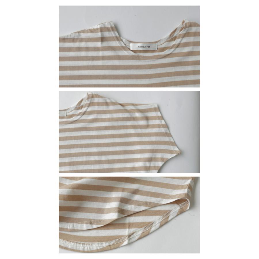 キッズ 男の子 女の子 綿100% トップス ダンス衣装 半袖 ・3月25日0時〜再再販。新色追加 ボーダードルマントップス30ptメール便可TOY|antiqua|06