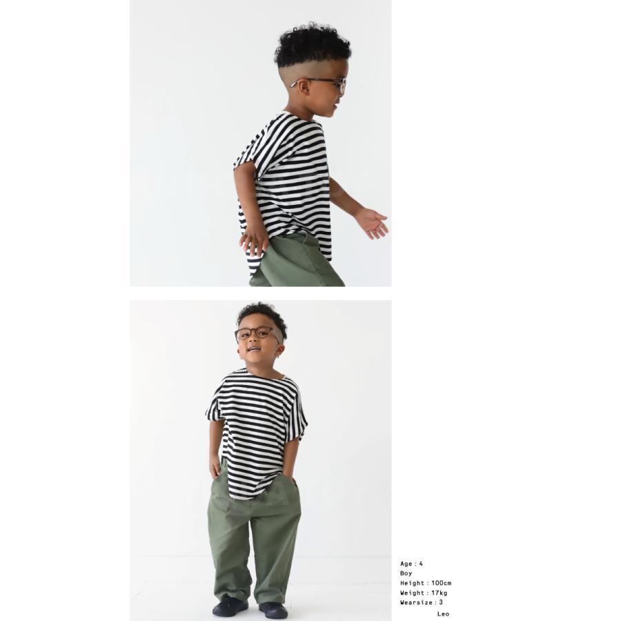 キッズ 男の子 女の子 綿100% トップス ダンス衣装 半袖 ・3月25日0時〜再再販。新色追加 ボーダードルマントップス30ptメール便可TOY|antiqua|09