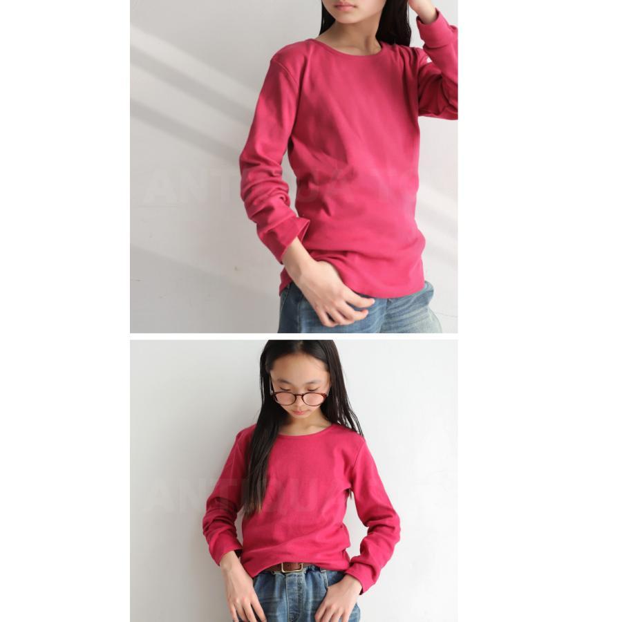 キッズ 男の子 女の子 ロンT カットソー 綿100% フライス綿ラウンドロンT・再販。メール便不可TOY|antiqua|17