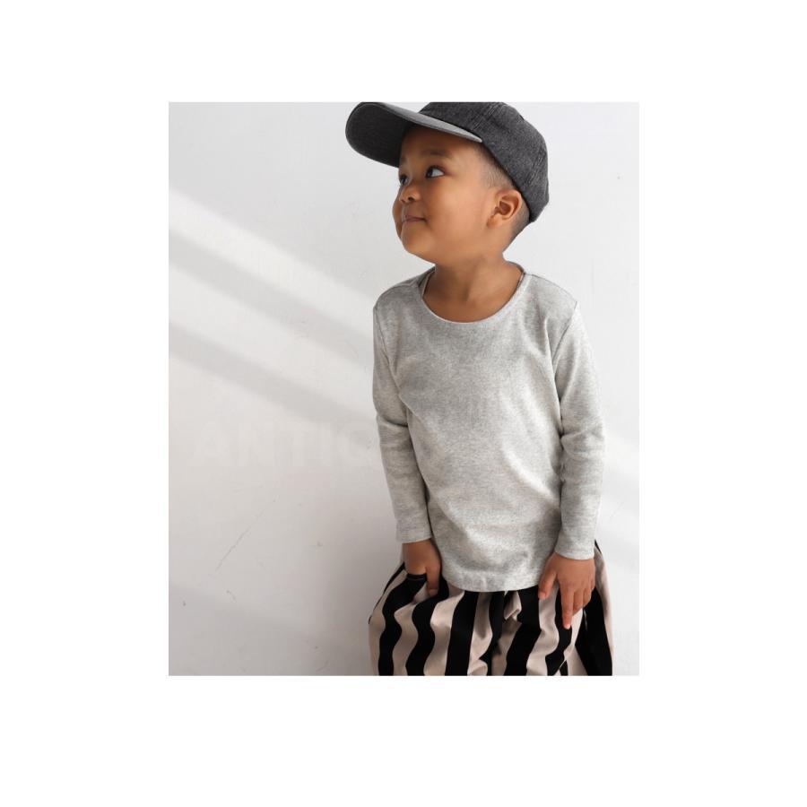 キッズ 男の子 女の子 ロンT カットソー 綿100% フライス綿ラウンドロンT・再販。メール便不可TOY|antiqua|19