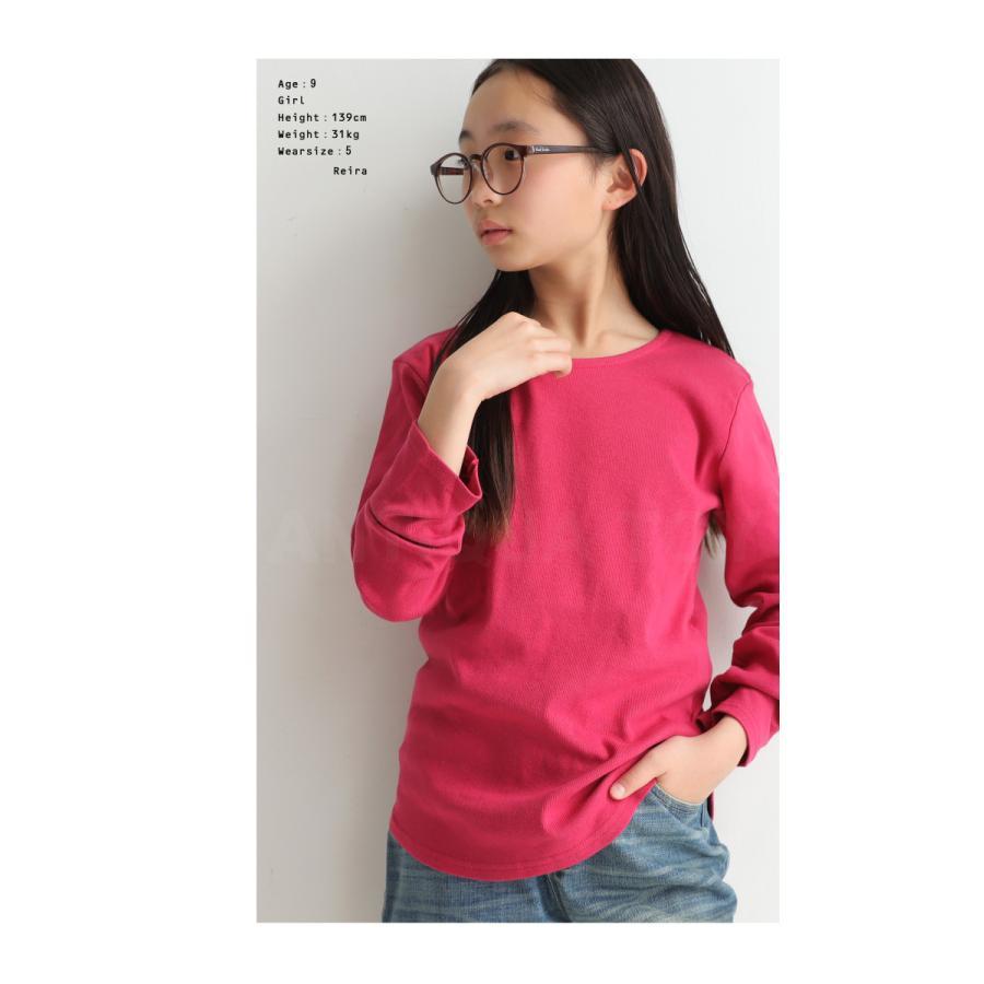 キッズ 男の子 女の子 ロンT カットソー 綿100% フライス綿ラウンドロンT・再販。メール便不可TOY|antiqua|05