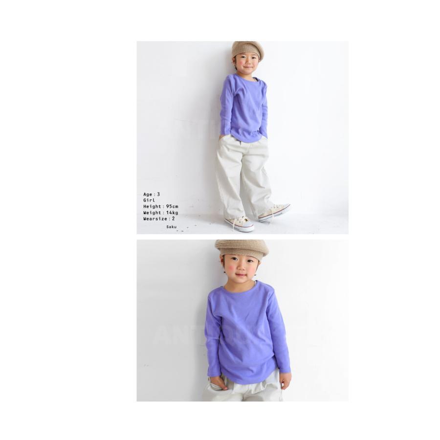キッズ 男の子 女の子 ロンT カットソー 綿100% フライス綿ラウンドロンT・再販。メール便不可TOY|antiqua|07
