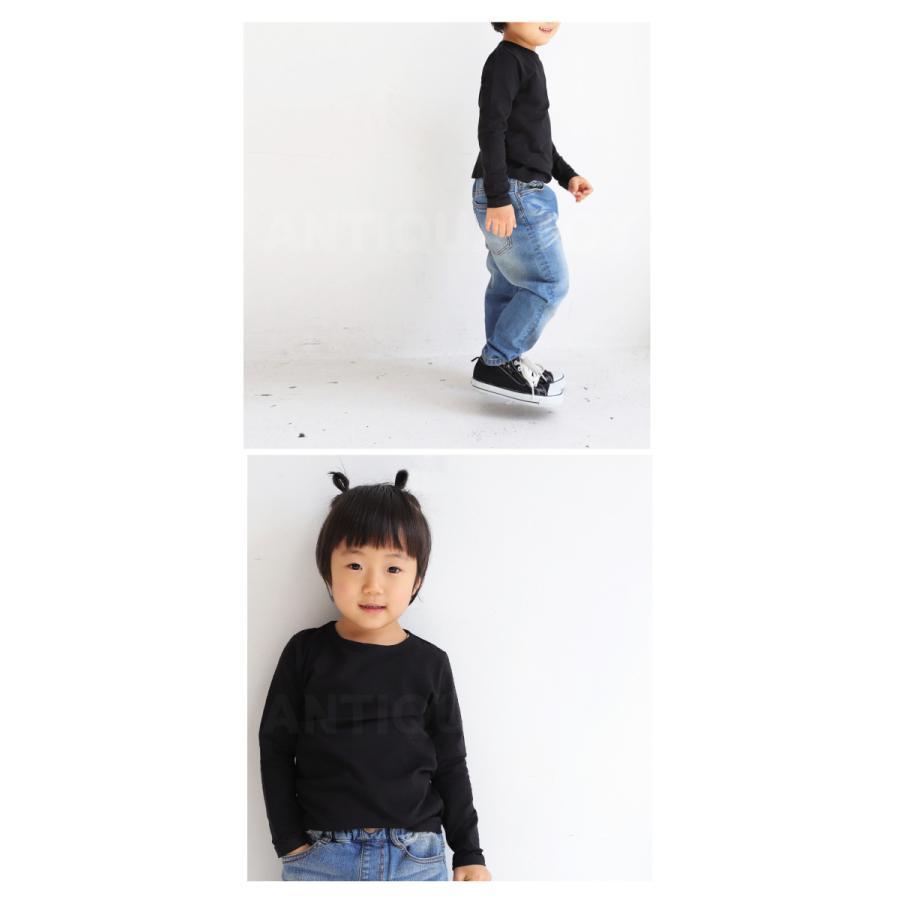 子供服 キッズ 男の子 女の子 長袖 ロンT 無地 カットソー・再販。メール便不可TOY|antiqua|18
