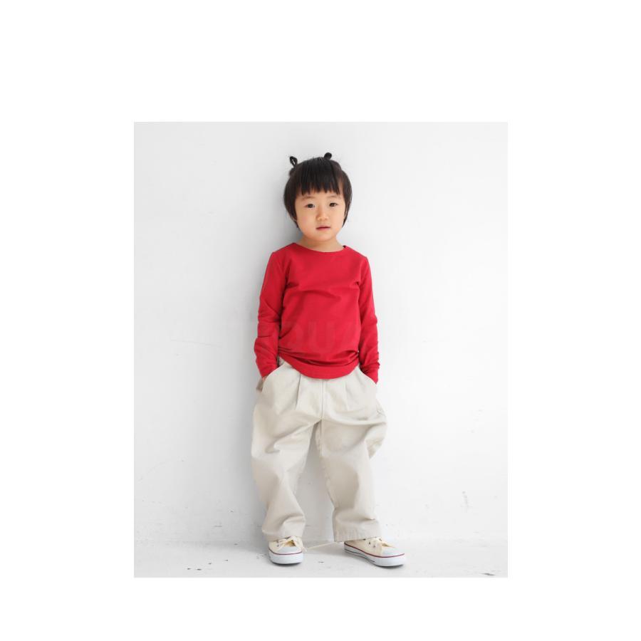 子供服 キッズ 男の子 女の子 長袖 ロンT 無地 カットソー・再販。メール便不可TOY|antiqua|19